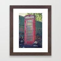 Old Telephone Booth Framed Art Print