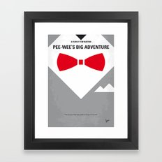 No511 My Pee Wees Big Adventure minimal movie poster Framed Art Print
