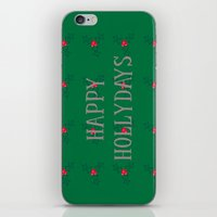 Happy Hollydays iPhone & iPod Skin