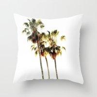 The Palms No. 3 Throw Pillow