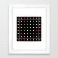 Dotted Grid Framed Art Print
