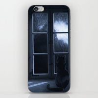 Watching the rain iPhone & iPod Skin