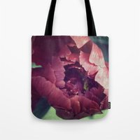 Peony Red flower Tote Bag