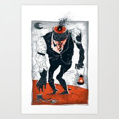 The Haunted Conductor Art Print