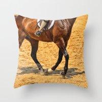 Horse Gallop Throw Pillow