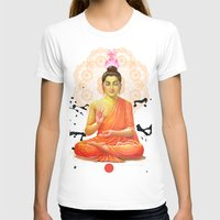 buddha T-shirts featuring Buddha by O. Be