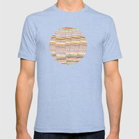 Cone pattern Mens Fitted Tee Tri-Blue SMALL