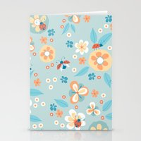 Ladybugs In The Garden Stationery Cards