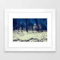 Snowy Woods Framed Art Print