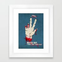Who want some peace? Framed Art Print