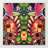 Mirrored Garden Canvas Print