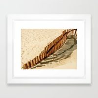 Bolonia Beach Framed Art Print
