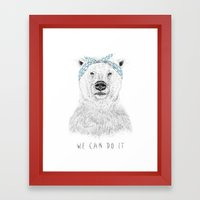 We Can Do It Framed Art Print