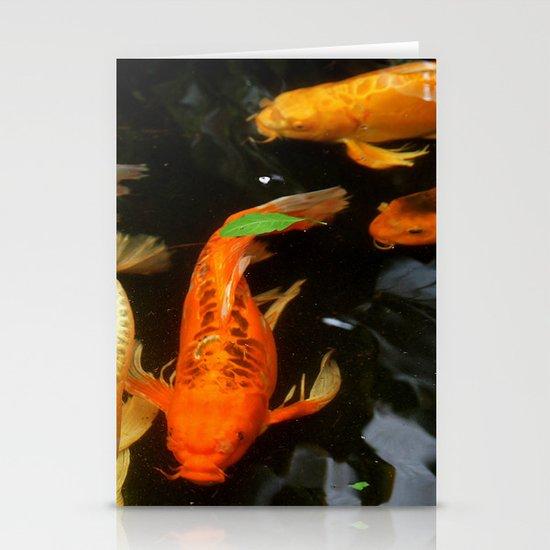 Fish Pond Stationery Card