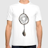 Dream Catcher Only Mens Fitted Tee White SMALL