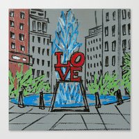 Little Love Park Sketch Canvas Print