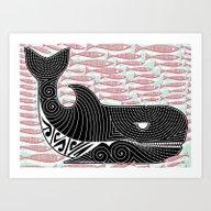 Art Print featuring Orca Dreaming by Alex Morgan