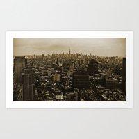 New York Skyline 3 Art Print