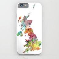 United Kingdom Map iPhone 6 Slim Case
