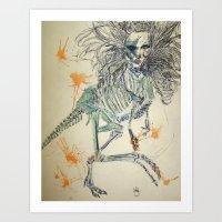 Velociraptorlady   Art Print