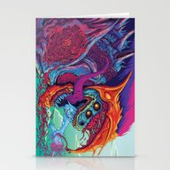 Stationery Cards featuring Hyper Beast by Hypse