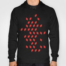 rhombus bomb in poppy red Hoody