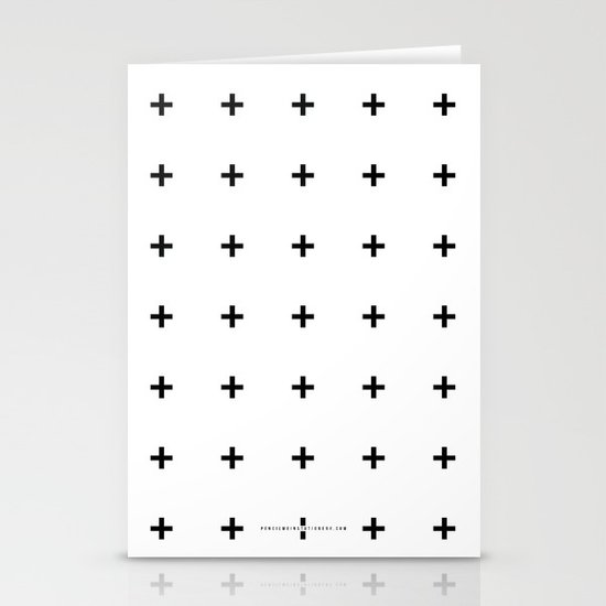 Black Plus on White /// www.pencilmeinstationery.com Stationery Card