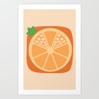 Orange Heart Art Print