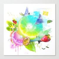 Acid Lima Canvas Print