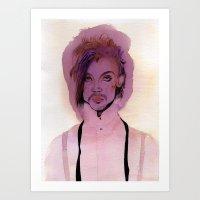 Lil Purple Prince Art Print