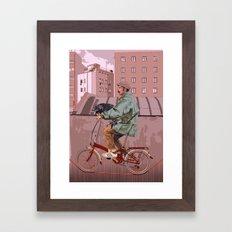 City bikes Framed Art Print