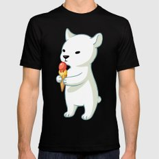 Polar Ice Cream SMALL Black Mens Fitted Tee