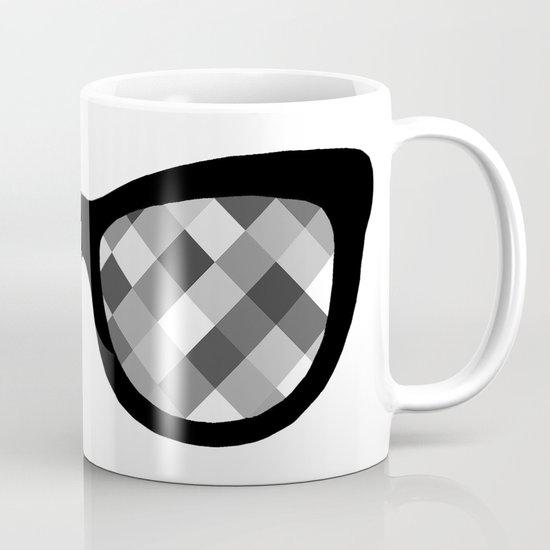 Diamond Eyes Black and White Mug