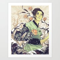 Glitches Art Print