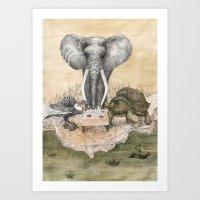 Council Of Animals  Art Print