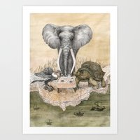 Council Of Animals  Art Print