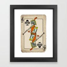 musical poker / Baroque oboe Framed Art Print