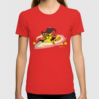 The Legend of Gabriela Womens Fitted Tee Red SMALL