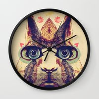 Rabbit Heart Wall Clock
