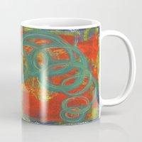 Green spirals Mug