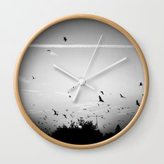 Migrating birds #02 Wall Clock
