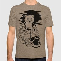 Lolcatronaut Mens Fitted Tee Tri-Coffee SMALL