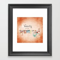 The Beauty Is In The Imp… Framed Art Print