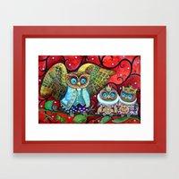 Baby owls Framed Art Print