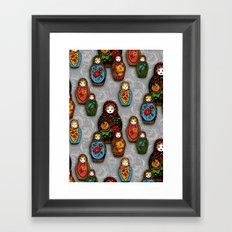 Matryoshki pattern Framed Art Print
