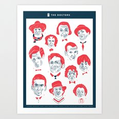 Faces of Doctor Who Art Print