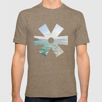 Summer Seas Mens Fitted Tee Tri-Coffee SMALL