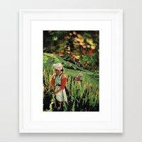 Poppy Mountain... Framed Art Print