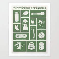 The Essentials of Camping Art Print