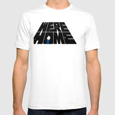 We're Home Mens Fitted Tee SMALL White